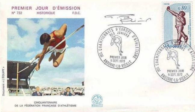 74 205 11 09 1970 premiers championnats d europe d athletisme des juniors lancement du poids