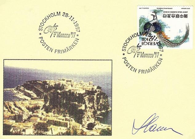 74 2225 2226 28 11 1997 exposition internationale o e t p monaco 97 le 9 mai 1997
