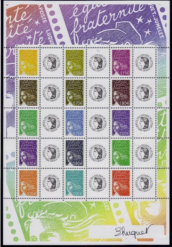 76 f 3688b 2004 marianne du 14 juillet vignette ceres 1