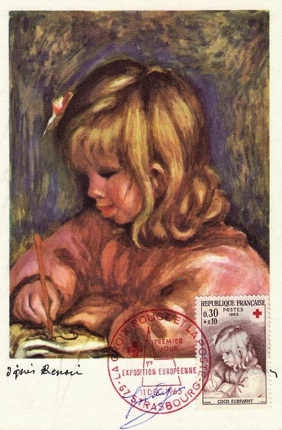 77 1467 11 12 1965 croix rouge coco ecrivant