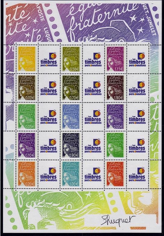 77 f 3688b 2004 marianne du 14 juillet vignette les timbres personnalises 2