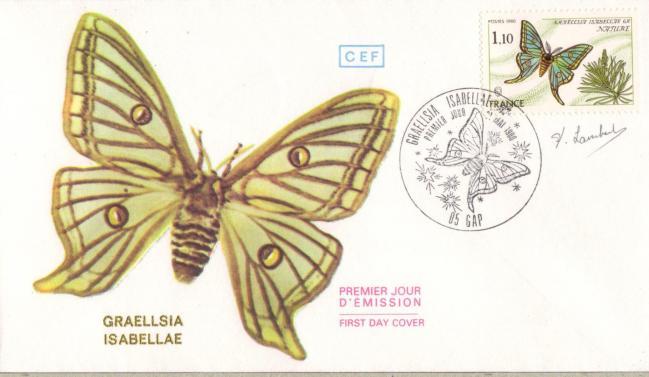 82 2089 31 05 1980 papillon graellsia isabellae