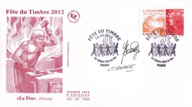 86 4688 13 10 2012 fete du timbre le feu