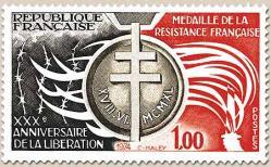 87 1821 23 11 1974 medaille de la resistance