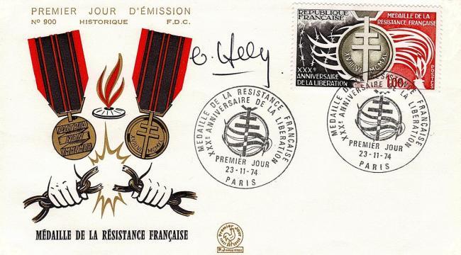 90 1821 23 11 1974 medaille de la resistance