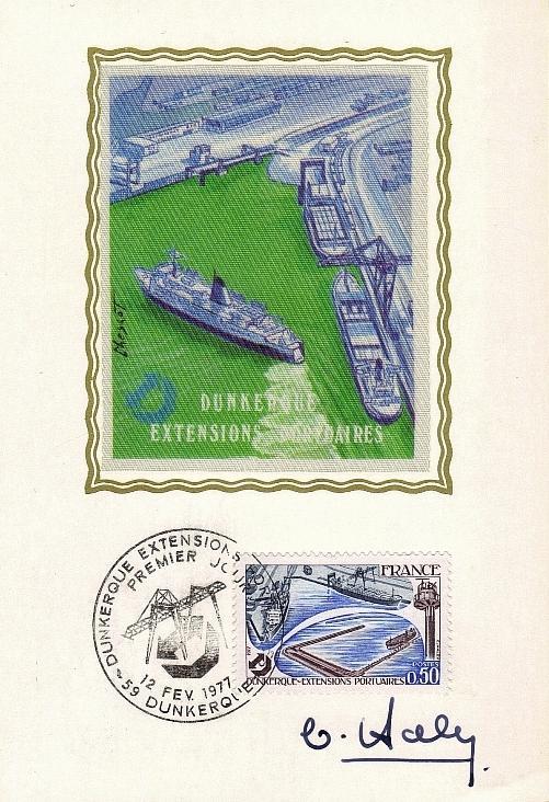 94 1925 12 02 1977 dunkerque extensions portuaires