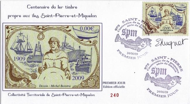 95 956 24 06 2009 centenaire 1er serie de timbre