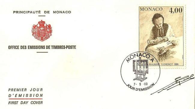 97 1693 07 09 1989 sesquincentenaire de la naissance de peintres celebres philibert florence peintre monegasque