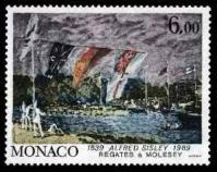 98 1694 07 09 1989 sesquincentenaire de la naissance de peintres celebres alfred sysley regates a molesey