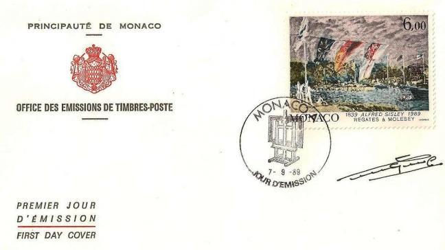 99 1694 07 09 1989 sesquincentenaire de la naissance de peintres celebres alfred sysley regates a molesey